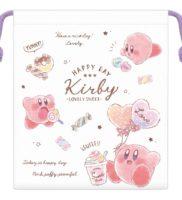 星のカービィ マチ付き巾着【LOVELY SWEET/お菓子とカービィ】Kirby COTTON CANDY