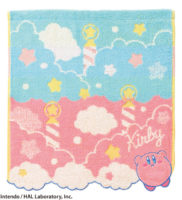 星のカービィ ウォッシュタオル【ふわふわ空のたび】