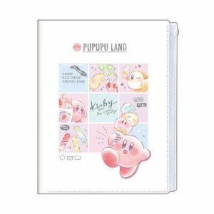 星のカービィ ファスナー付き6ポケットクリアファイル【アイスクリーム】Kirby SHINY POP