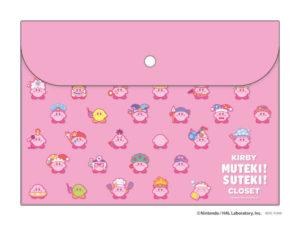 星のカービィ フラットケース【ピンク / ブルー】KIRBY MUTEKI! SUTEKI! CLOSET
